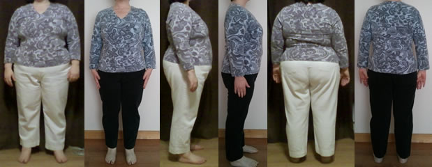 Giia 50 lbs Gone raw food Before and Afters