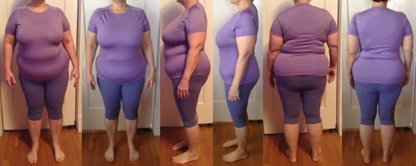 Foteen's 35 lbs Gone Raw Food Diet Before and After