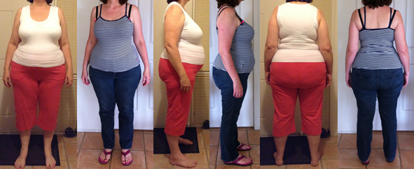 Jenna's 40 lbs Gone Before and Afters