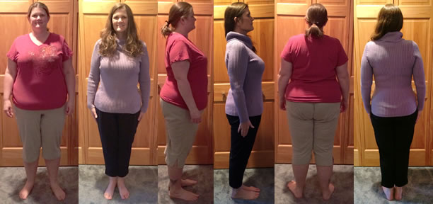Michelle's fast weight loss 80 lbs gone before and afters with a raw food diet