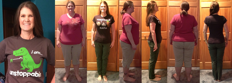 Michelle's 100 lbs Gone Fast Weight Loss with Raw Food Diet Before and Afters