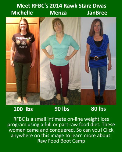 2014 Fast Weight Loss with a Raw Food Diet Before and Afters