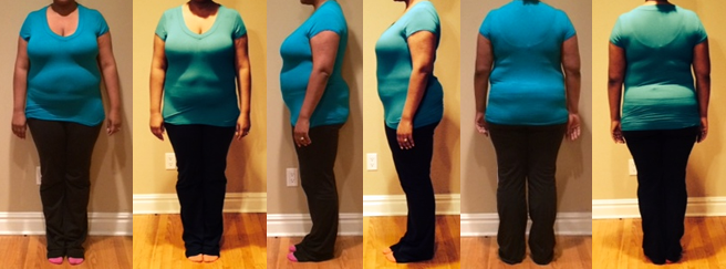 Erica's 25 lbs in 4 Weeks Before and Afters
