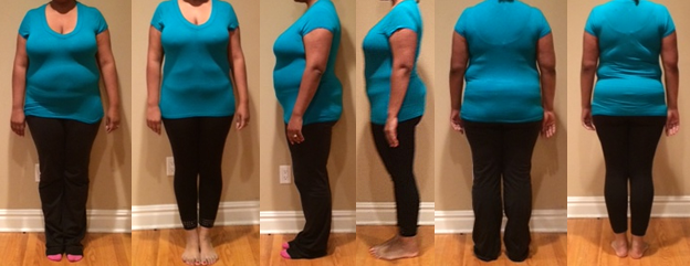 Ericas 40 lbs Gone Fast Weight Loss with a raw food diet before and afters
