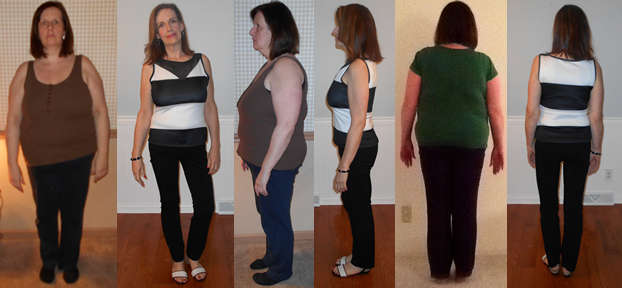 JanBree 87 lbs gone at goal with a fast weight loss raw food diet before and afters